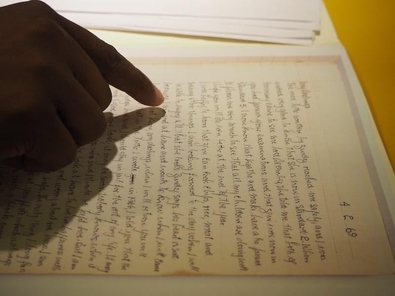 ... direkt hinein in die Notizen Nelson Mandela's: Von selbigen hier bin ich wirklich berührt ...