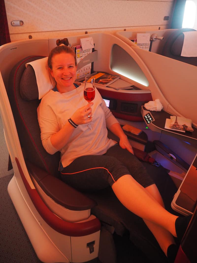 Gruß aus der Qatar Airways Business Class ...