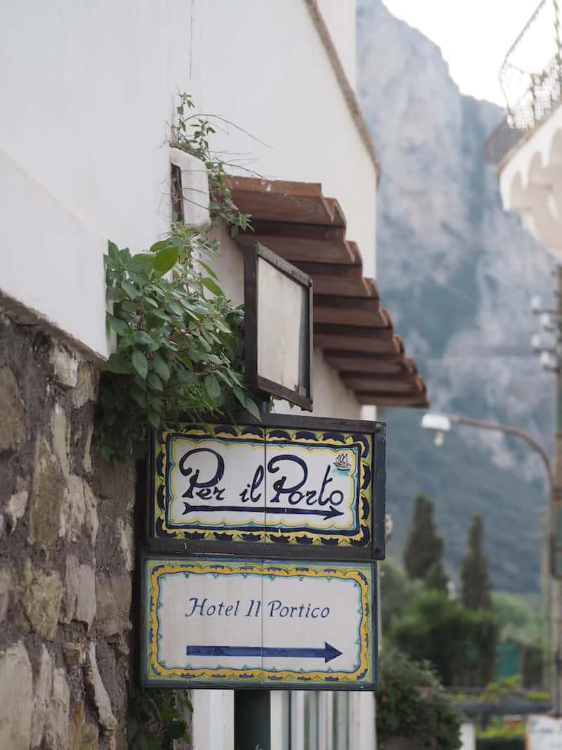 Die Straßen von Capri ...
