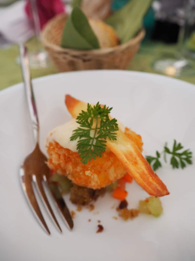 ... aber auch leichte Zwischengerichtet bietet die insgesamt neungängige Menüfolge der Pitztaler Gourmetnacht ...