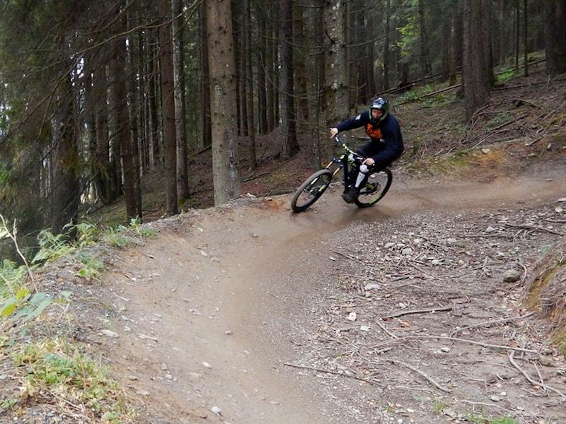 Mit Spaß & Eifer bei der Sache: Mountainbiking in Leogang.