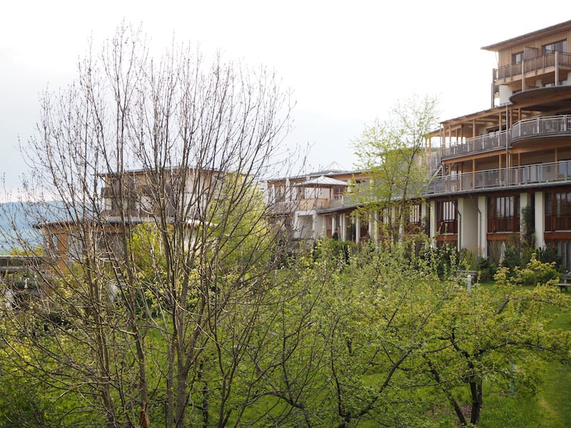 ... with a good look over the rest of the hotel, as well as the awakening nature during spring in front of us …