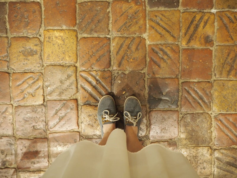 ... (did I say I love tile floors?) ...