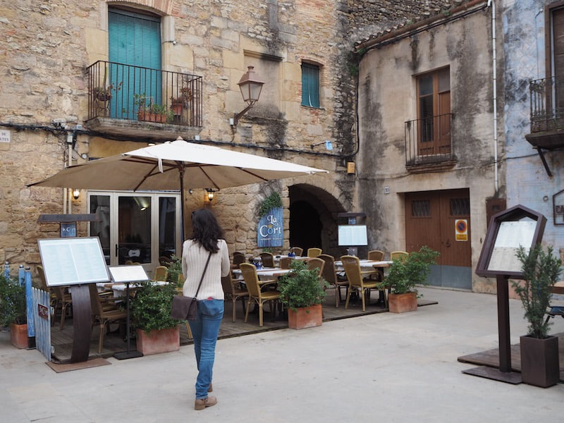 Starting in Peratallada, one of Costa Brava's most well-known small towns ...