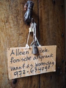 ... love the sweet little Dutch details around the otherwise Catalan farm ...
