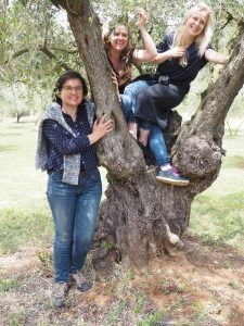 ... you are able to visit Josefina's olive grove ...