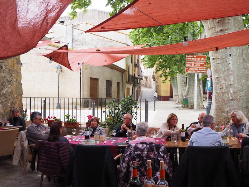 Restaurant Carles Antoner, on the main square of Lladó ...