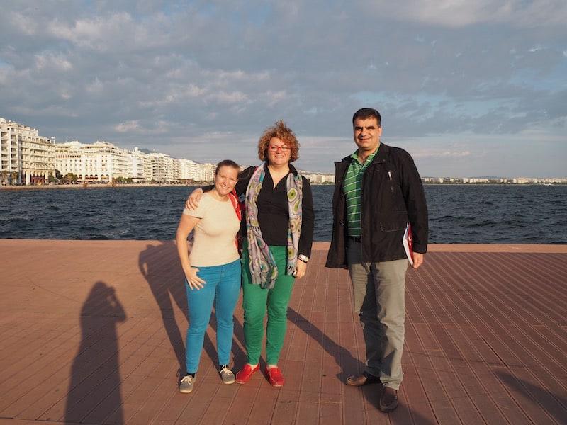 ... danke für das nette Treffen mit meinen griechischen Kollegen Flora & Alexandros hier ...