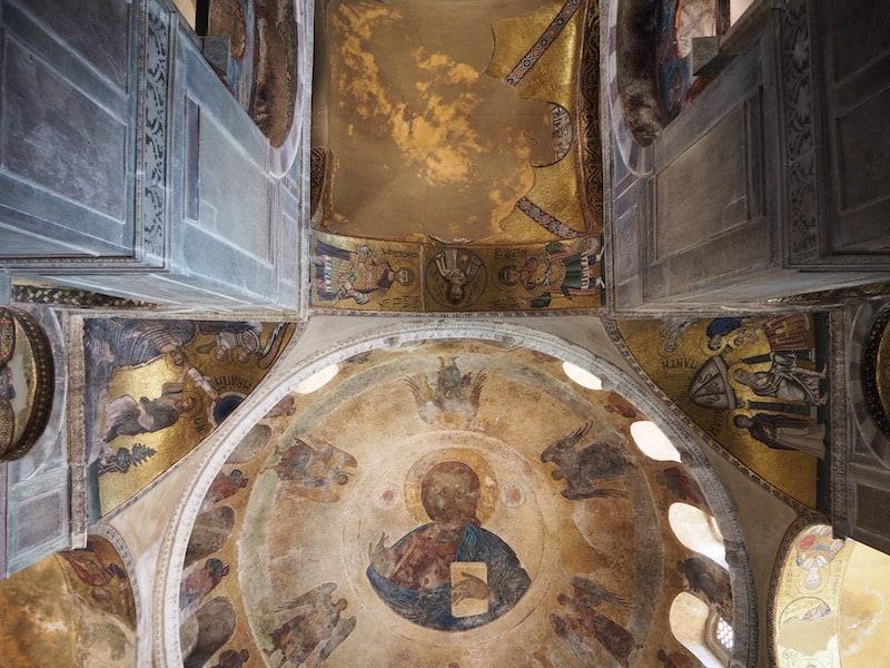 ... Heimat gewaltiger Kulturschätze, wie diesen berühmten Deckenmosaiken hier ...