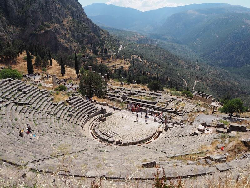 ... bevor wir am nächsten Tag endlich hier angelangt sind: Mit dem Besuch des Orakel von Delphi wird ein echter Kindheitstraum wahr ...