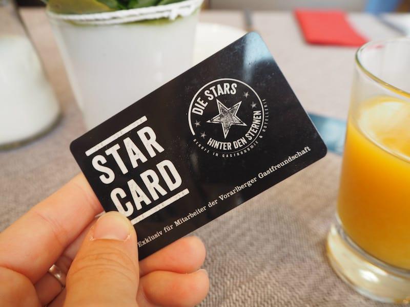 """Die """"StarCard"""", so erfahren wir von Richard Zünd, zeichnet zudem besonders engagierte Mitarbeiter im """"Ländle"""" aus und zeugt von einer weiteren Nachhaltigkeitsinitiative in der Sozialpolitik des Landes ..."""