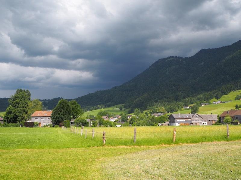 ... hinein in den Bregenzerwald ...