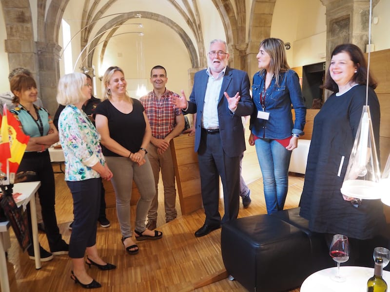 The EuropeTour family meets again, officially received by the local governor of Cantabria ...