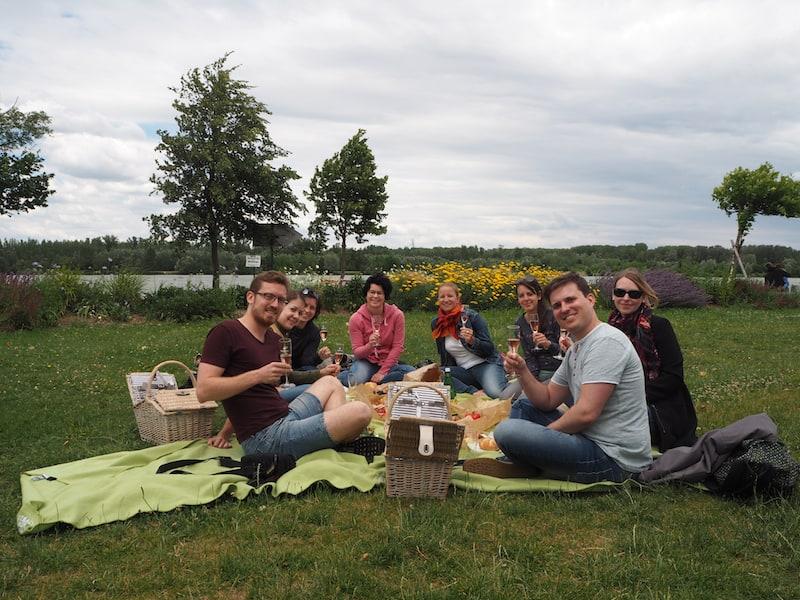 Nach so viel Anstrengung erst mal picknicken. Und zwar am besten an der Picknickwiese bei der Donau in Tulln: Einige Picknickvermieter laden auch spontan dazu ein.