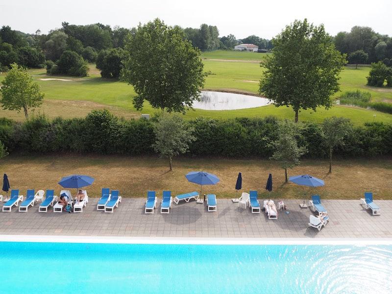 Die Aussicht aus meinem Zimmer im Hotel Marc Aurel in Bad Gögging schafft Urlaubsstimmung pur ...