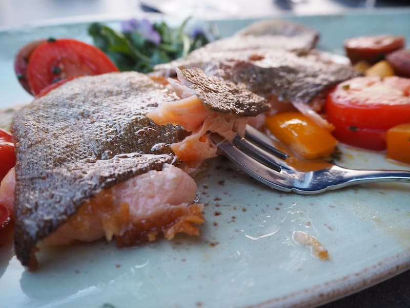 ... und schließlich, ebenso erfrischen: Der frische Fisch zum Tagesausklang im Hotel Marc Aurel in Bad Gögging.