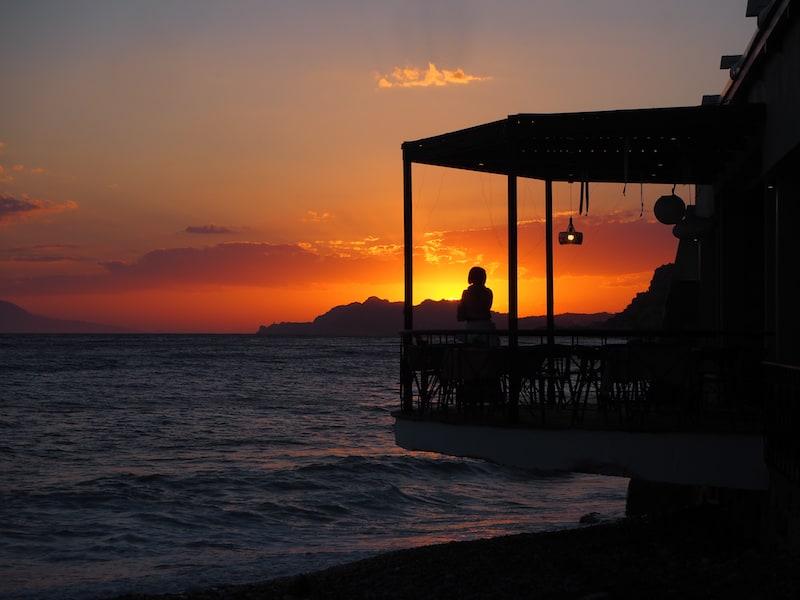 ... die Sonnenuntergänge hier sind einfach fabelhaft !