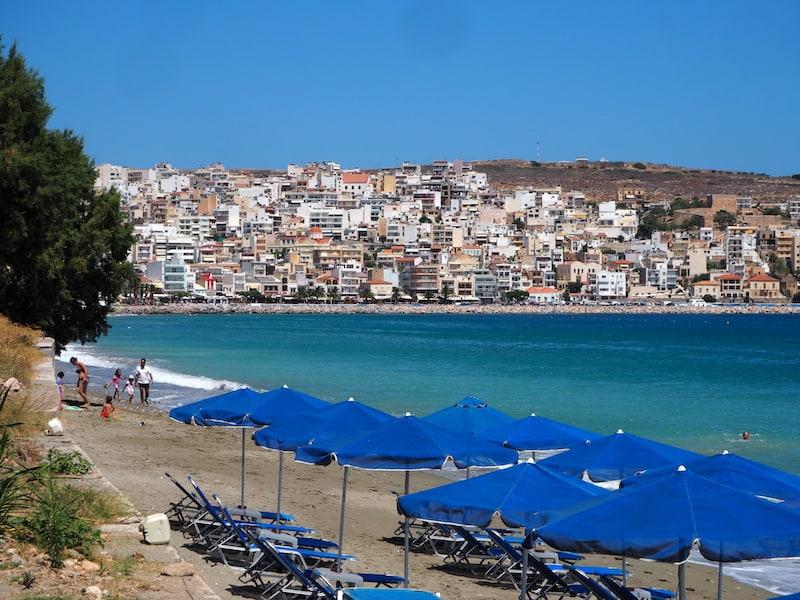 ... oder Strand (und Stadt) von Siteia, ebenfalls im Nordosten Kretas gelegen.