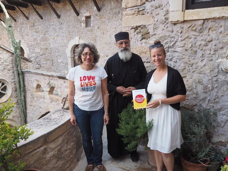 Danke für diesen herzlichen Empfang hier im Kloster Toplou in Kreta !!