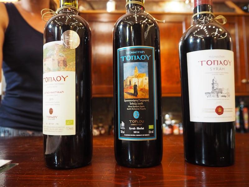 Das Kloster Toplou selbst bietet dazu den entsprechenden Wein ...
