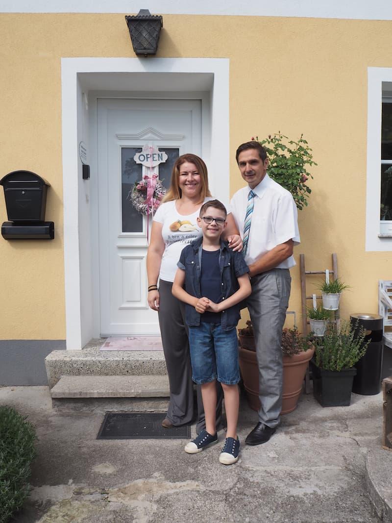 Hier im Hause Schabel-Zehetner in Scheibbs ...