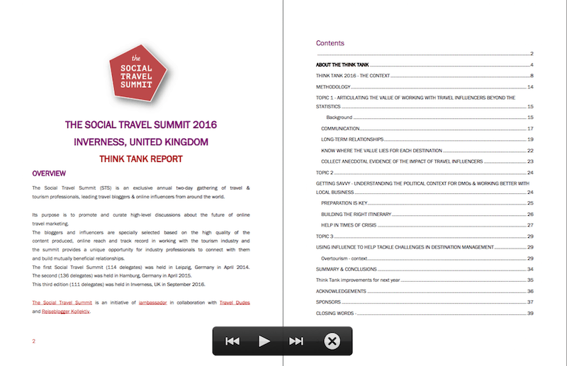 Social Travel Summit Think Tank Report 2016_Screenshot