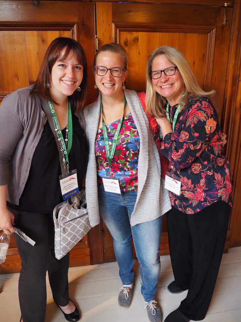 I take my chance and give those US ladies a squeeze: They are responsible for organising next year's TBEX at Five Finger Lakes, in New York State, which has my full attention as it is a wine & foodie travel destination I long to visit in my life!