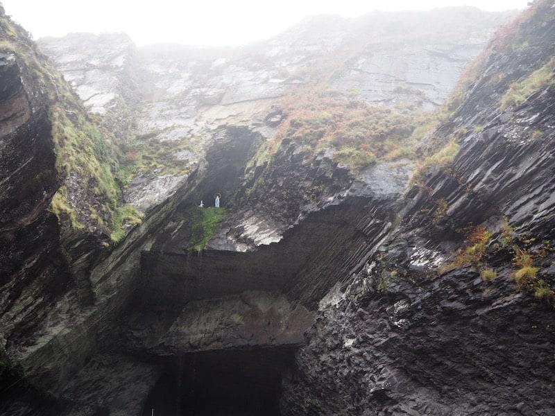 Und falls Ihr noch nicht genug habt, so bietet diese Steingrotte (alles auf der kleinen Insel Valentia gelegen, übrigens)