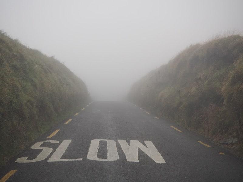 Als der Nebel auf den Straßen noch dichter wird ...