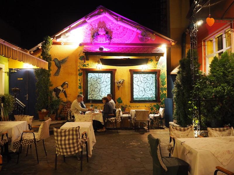 Abends im Restaurant Sokače ...