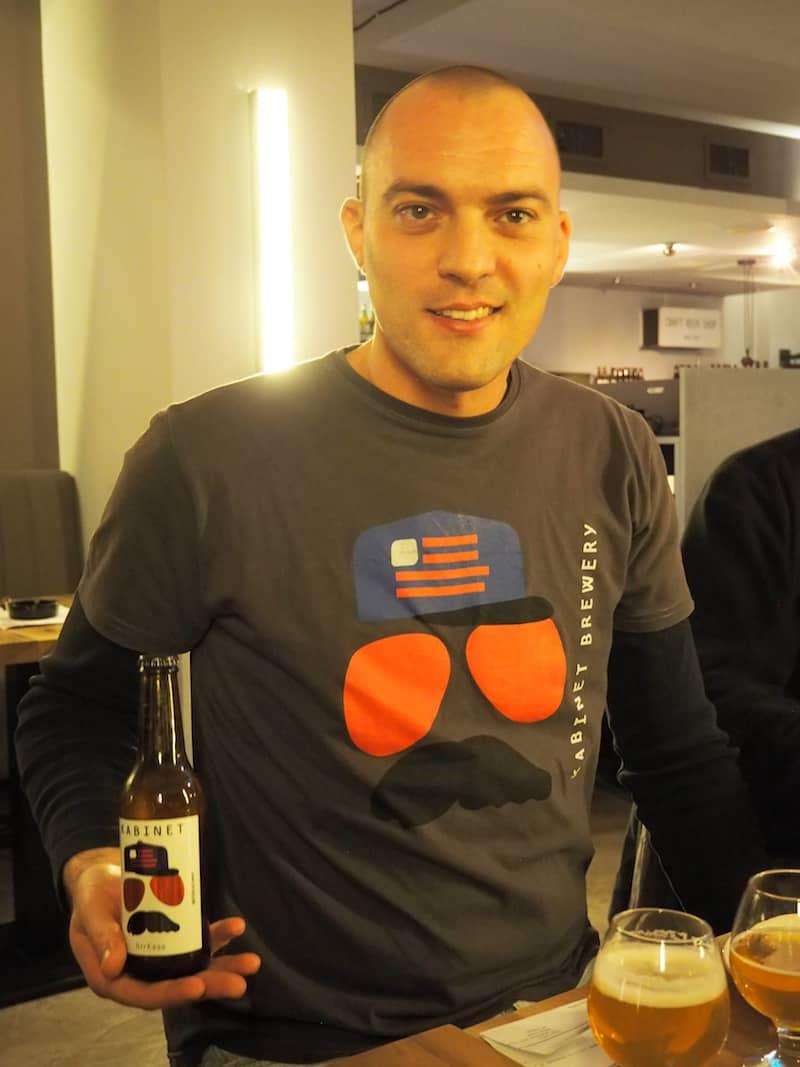 """... vielen Dank, lieber Miso Hadzic von """"Kabinet Brewery"""" für die köstliche Vorführung"""