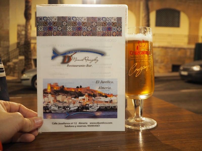 ... ein letztes Bier auf die vielen herzlichen Erinnerungen aus wenigen Tagen Almería zu trinken: Almería, was hast Du mich verzaubert!