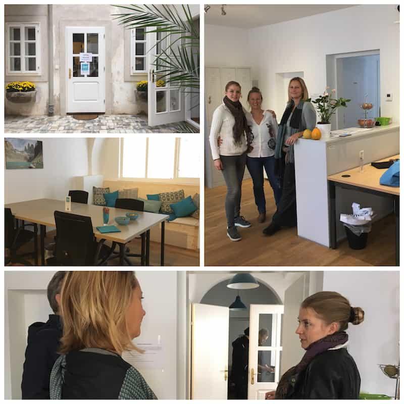 """... wenn schon vor die Tür, dann am besten zu Anlässen wie der Neueröffnung des """"CoWorkVienna""""-CoworkingSpace einer lieben Bekannten & Reisebloggerin, Lisa Stelzel ..."""