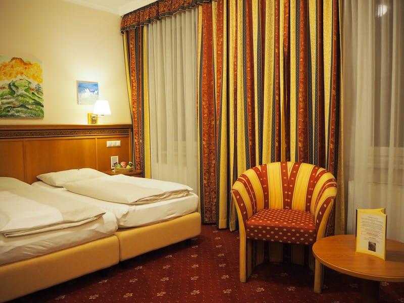 Gemütlich im Hotel Alexandra Zimmer bezogen ...
