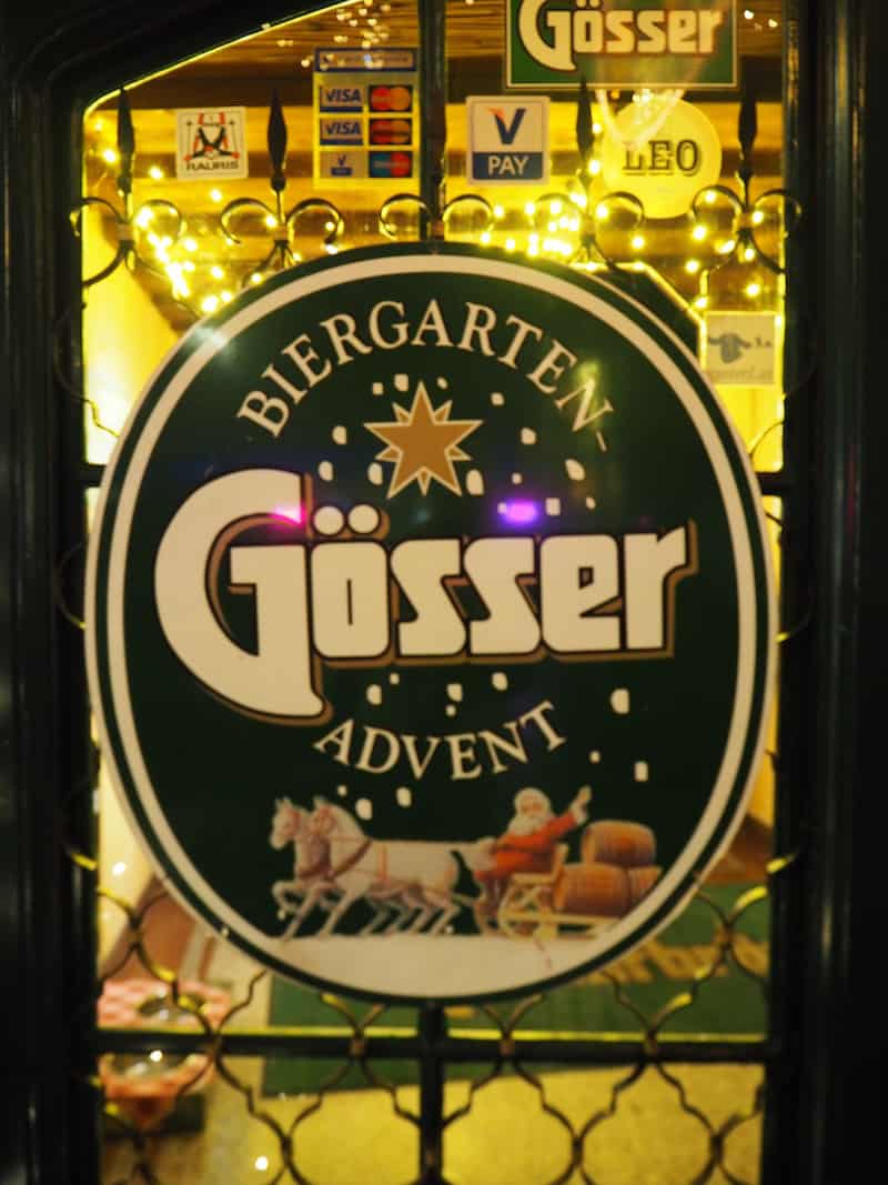 ... Gösser Biergarten Advent, anyone?!