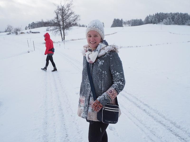 Und so sieht man mich am vorletzten Tag des Fasten-Urlaubes: Glücklich und zufrieden, in der traumhaften Winterlandschaft rund um Langschlag.