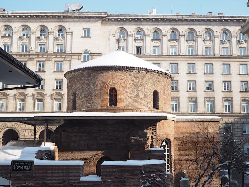 Inmitten des seit jüngster Zeit kommunistisch geprägten Sofia