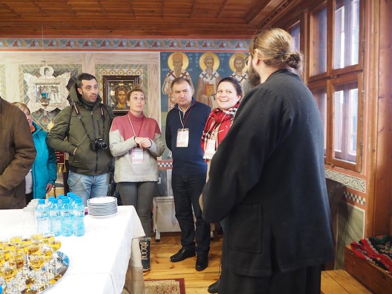 Auch hier empfängt uns der Ordensbruder Stefan mit hausgemachtem Raki und weiteren, regionalen Köstlichkeiten in überaus großzügiger Gastfreundschaft ...