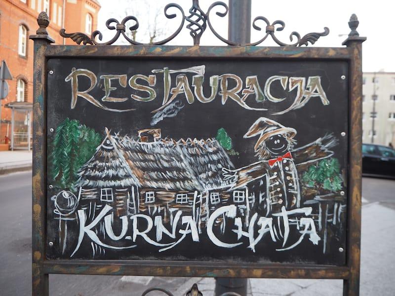 """Hungrig? Das Restaurant """"Kurna Chata"""" in der polnischen Grenzstadt Swinousjcie ..."""