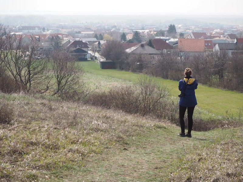 ... zum Beispiel über Purbach sowie den gesamten nordwestlichen Neusiedlersee ...