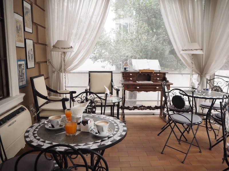 Die Villa Pirandello, in einem überaus ruhigen und schönen Stadtviertel Roms nördlich von Termini gelegen ...