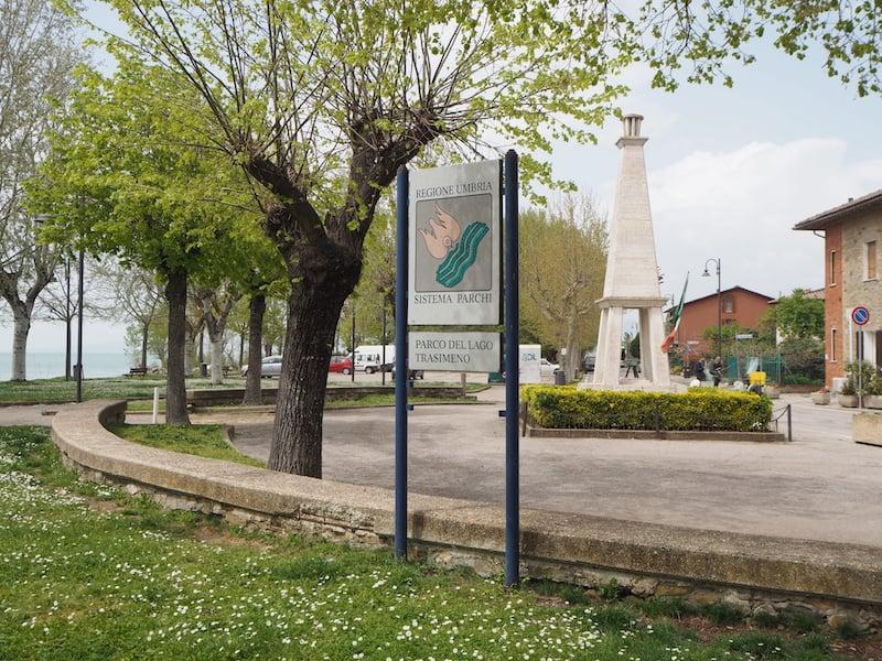 Der kleine Ort San Feliciano ...