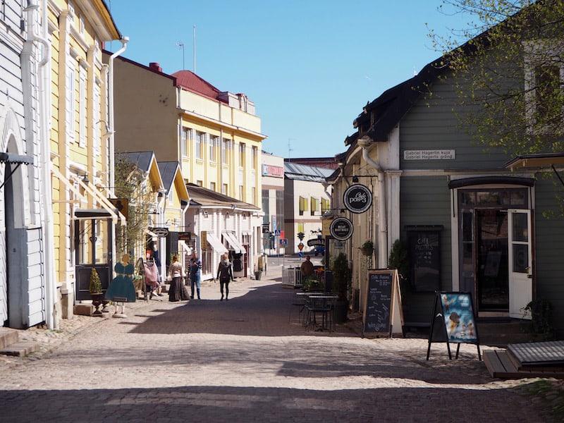 Später, beim Durchschreiten der Altstadt von Porvoo ...