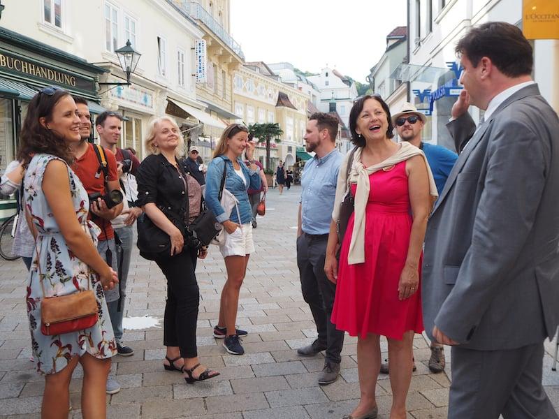 ... ist es ein besonders guter Moment, um durch die Stadt Baden zu streifen: Vielen Dank, liebe Christine, für die tolle Führung mit Dir !