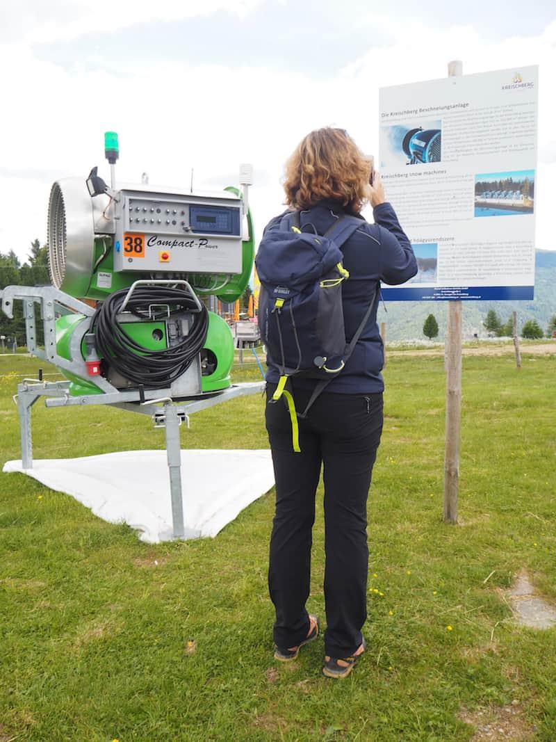 """Sehenswert: Eine moderne Schneekanone in einem """"grünen Energiekreislauf"""" ohne zusätzliche Umweltbelastungen für Böden und Klima ..."""