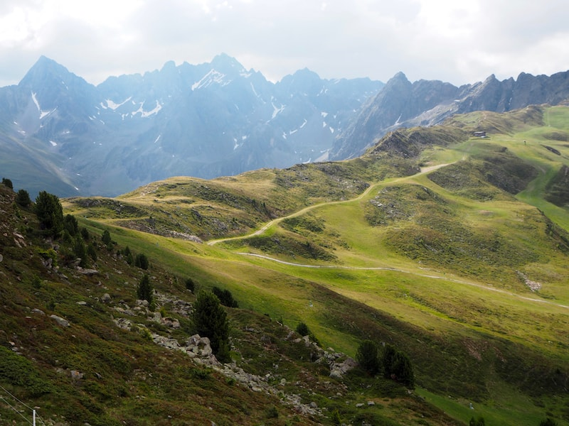 Hoch oben in den Bergen des Tiroler Pitztal, wie hier am Hochzeiger ...