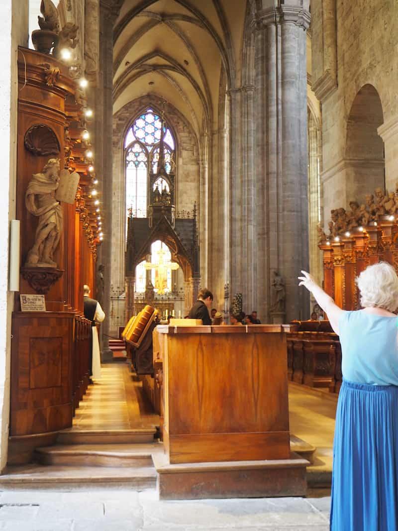 """... ist es nur ein Katzensprung in das nahe gelegene Stift Heiligenkreuz mit seinen berühmten """"Chana-Mönchen"""", über die ich Euch bereits hier mehr erzählt habe ..."""