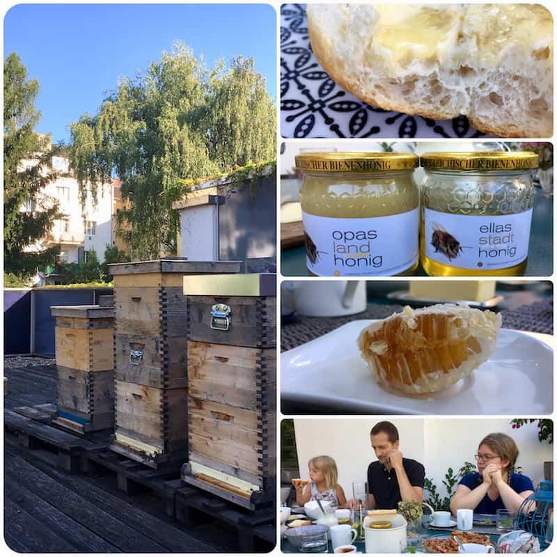 ... dessen Frühstücks-Honig überaus nachhaltig von der Hobby-Imkerin Manuela Rabengruber erzeugt wird ...