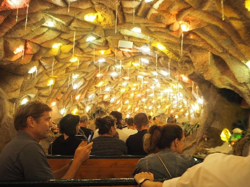 ... kleines Highlight: Die Grottenbahn, die nicht nur Kinder begeistert!