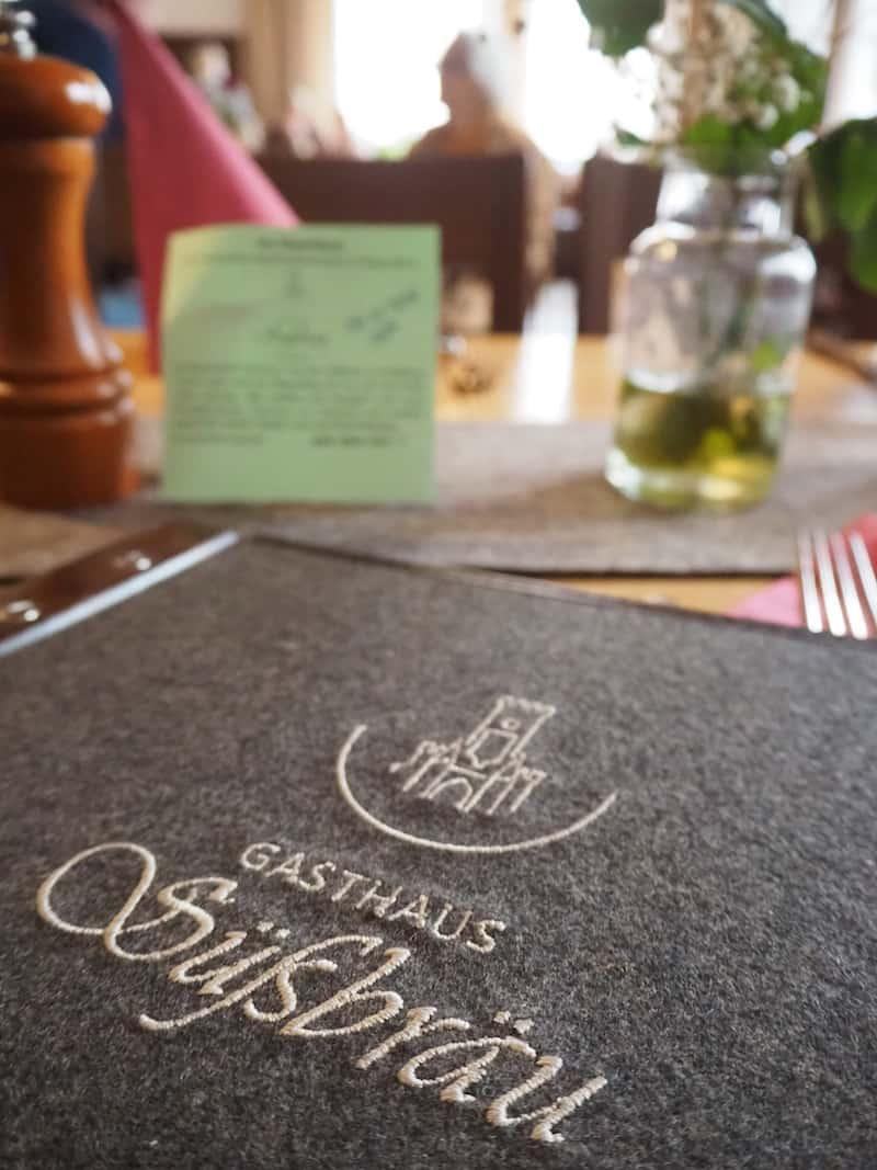 ... könnt Ihr Euch im Gasthaus Süßbräu kulinarisch verwöhnen lassen ...